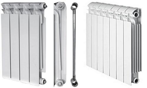 Радиаторы алюминиевые с монтажом
