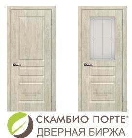 Два белых дверных полотна